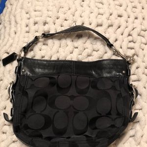 Black over the shoulder Coach purse